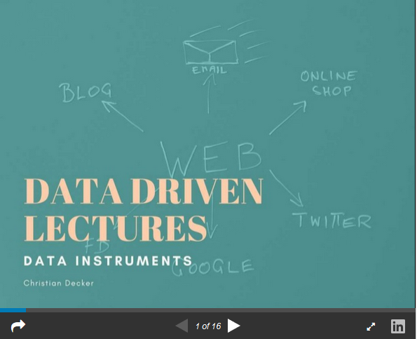 Data instruments for DDL