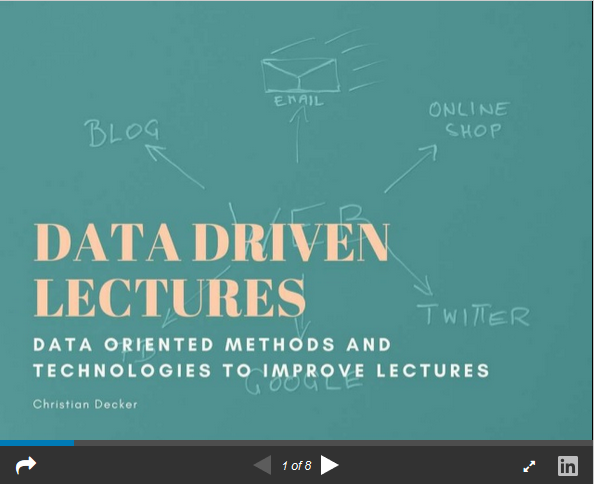 Data Driven Lectures (Intro)